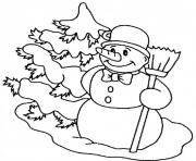 Print carrot nose snowman sa0b8 coloring pages