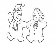 Printable couple snowman s for kids 09d6 coloring pages