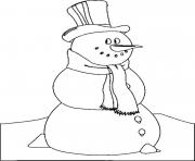 Printable snowman s kids f3c7 coloring pages