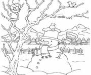 Printable snowman winter s for kids 82e3 coloring pages