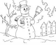 Print snowman free8a74 coloring pages