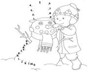 Print winter s making snowman a00e coloring pages