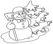 Printable snowman s to print snowydayf39b coloring pages