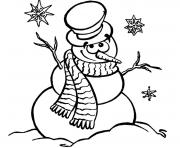 Printable smilling snowman sdc21 coloring pages