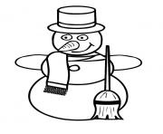 Printable snowman s winter 0038 coloring pages