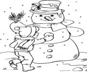 Print snowman winter 82f4 coloring pages