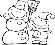 Printable free snowman s for kids d7a0 coloring pages
