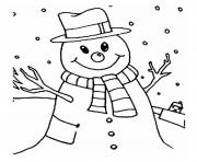 Print smiling snowman s5a5d coloring pages