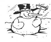 Printable winter snowman s to print e127 coloring pages