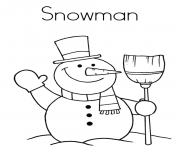 Print christmas winter snowman free2d97 coloring pages