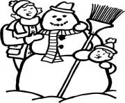 Print making snowman s winter 055c coloring pages
