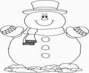 Printable smilling snowman s free0757 coloring pages