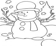 Printable snowman preschool s winter b015 coloring pages