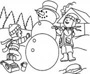 Printable making snowman s for kids dd41 coloring pages