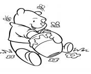 Print pooh s delicious honeyfec2 coloring pages