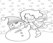 Print creating a snowman winter s printables 80d6 coloring pages