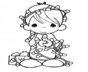Printable Precious Moments Christmas coloring pages
