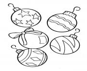 Printable Christmas Tree Ornament coloring pages