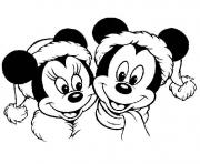 Print mickey mouse disney christmas 2 coloring pages