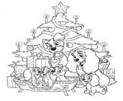 disney christmas 5 coloring pages