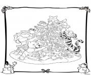 winnie the pooh disney christmas 6 coloring pages