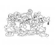 Print disney christmas 12 coloring pages