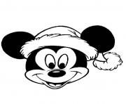 Print mickey mouse disney christmas 4 coloring pages