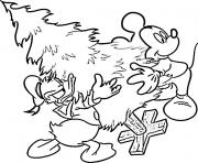 Printable walt disney christmas cartoon coloring pages