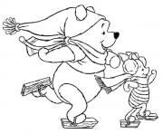 winnie the pooh disney christmas 1 coloring pages