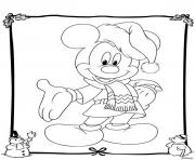 mickey disney christmas 19 coloring pages