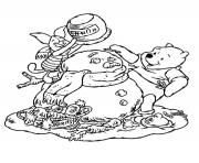 Print winnie the pooh disney christmas 12 coloring pages