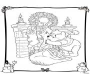 Printable winnie the pooh disney christmas 3 coloring pages
