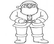 christmas santa claus full body 84 coloring pages
