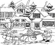 christmas santa claus house17 coloring pages