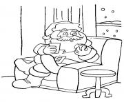 Printable christmas santa claus 06 coloring pages