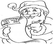 Printable christmas santa claus 09 coloring pages