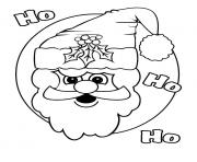 christmas santa claus ho ho ho coloring pages