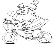 christmas santa claus on bike 38 coloring pages
