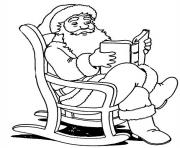 Printable christmas santa claus reading a book 81 coloring pages