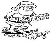 Printable christmas santa claus 14 coloring pages