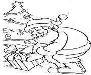 Printable christmas santa claus tree07 coloring pages