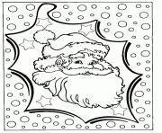 Printable christmas santa claus 03 coloring pages