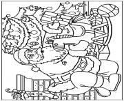 christmas santa claus 12 coloring pages