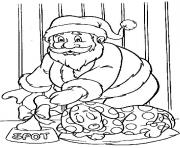 Print christmas santa claus gift for dog 85 coloring pages