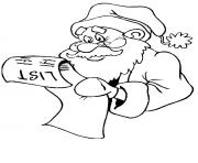 christmas santa claus kids list11 coloring pages