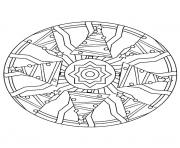 Print mandala christmas 09 coloring pages