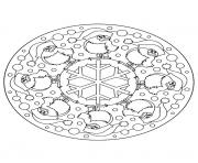 Printable mandala christmas 12 coloring pages
