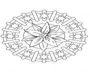 Print mandala christmas 15 coloring pages