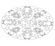 Print mandala christmas 32 coloring pages