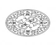 Printable mandala christmas 05 coloring pages